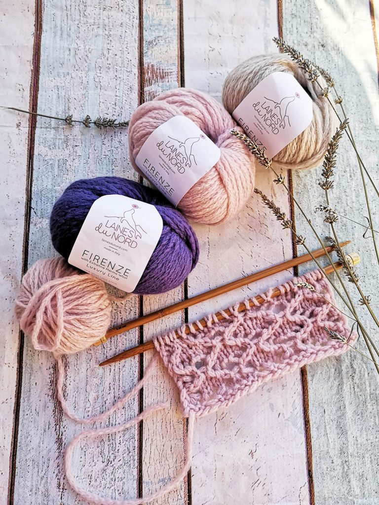 balls of yarns and wool made in Italy for knitting